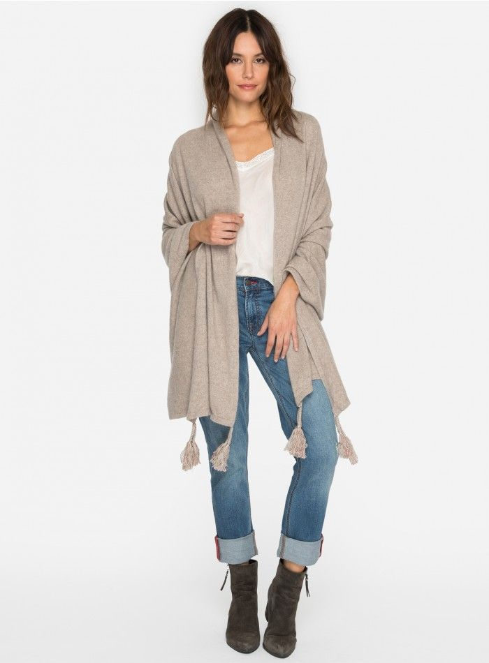 Tasseled Cashmere Wrap Description: Take a walk on the luxe side in this gorgeous cover-up. This open front cardigan features a tassel design give this piece an effortless, flattering drape.  Details & Care: •Cashmere •Open front •Tassel Details •Care instructions: Dry clean suggested  •Not applicable for expedited shipping. Expected shipping date for this item will be 7-9 business days.