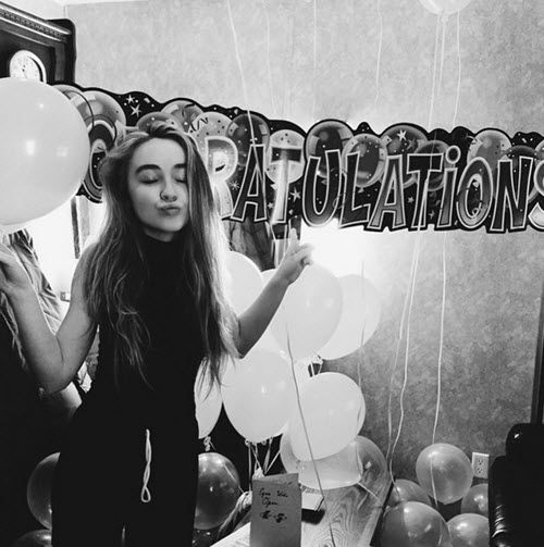 "Photos: Sabrina Carpenter Had A Nice Celebration For Her ""Eyes Wide Open"" Release April 14, 2015 - Dis411"