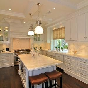 Prestige Kitchen Sink : Coffered Ceiling Kitchen, Traditional, kitchen, Prestige Mouldings ...