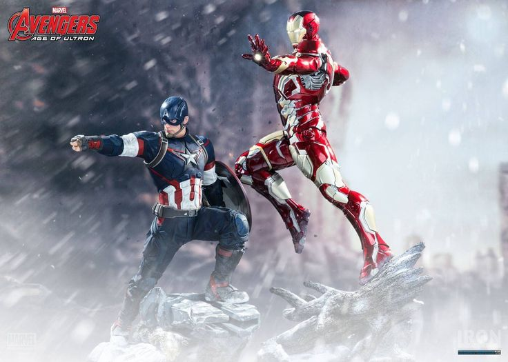 Captain America and Iron Man statue 1/4 scale. Premium Format and considered to be grails!   Manufactured by Iron Studios! Release Q4 2015
