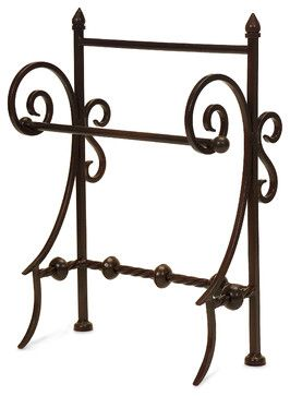 Robust and Creatively Styled Iron Towel Holder eclectic-towel-racks-and-stands