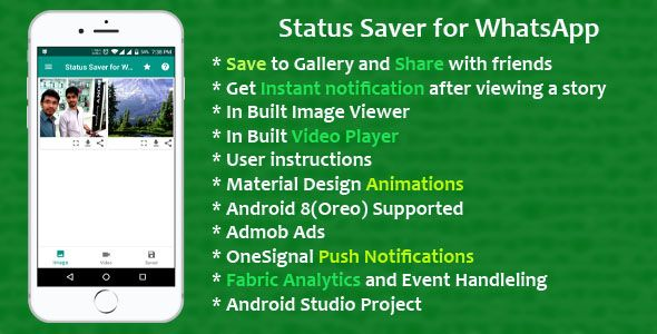 Status Saver for Whatsapp Android Template | Design Ideas | Android