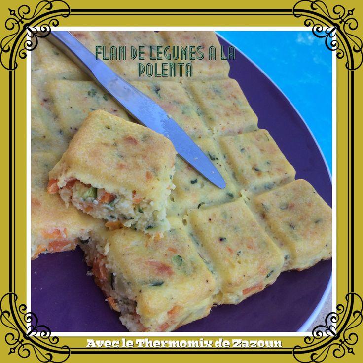 Flan de légumes à la polenta au Thermomix