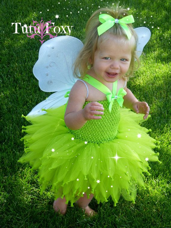 Tinkerbell costume Tinker bell costume Fairy Tutu by TutuFoxy