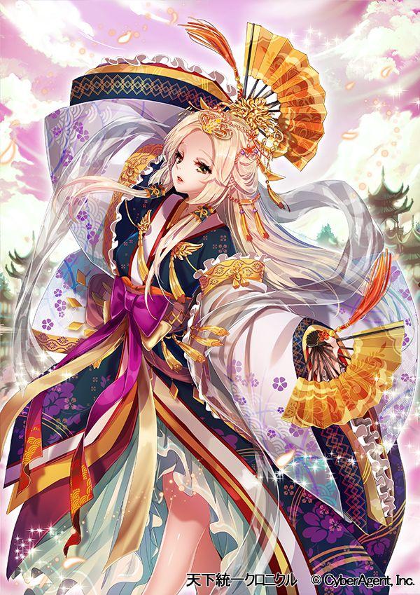 Cyber Agent, Tenka Touitsu Chronicle, Holding Fan, Fan, Anime
