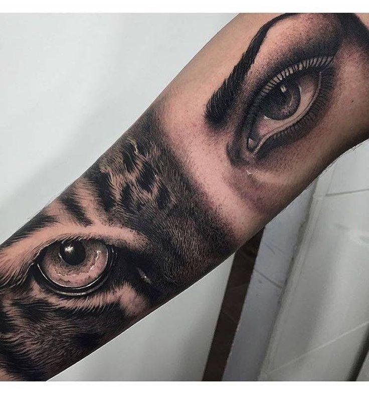 Mirada felina. Artista Tatuador: Samuel Rico