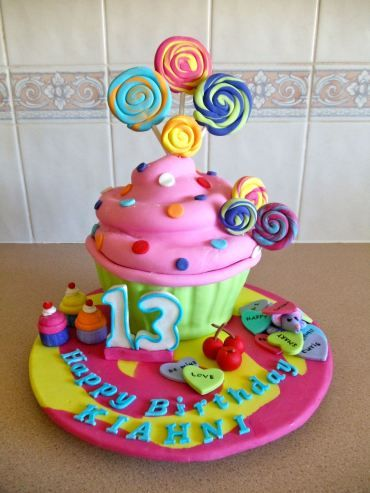 Teenage Girl Cake Images : Gorgeous Teen Girl Birthday Cake Fantasy Cupcakes ...