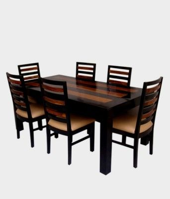 Ethnic India Art Solid Wood 6 Seater Dining Setfinish Color Matte