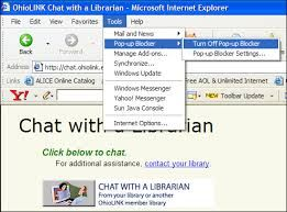 open the internet explorer and then go to tools with go pop up blocker options and click on turn off pop up blocker