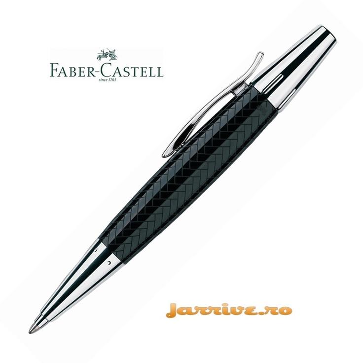 Faber-Castell e-motion Ballpoint Parquet Black 148351