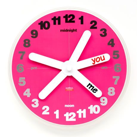 You and Me clock