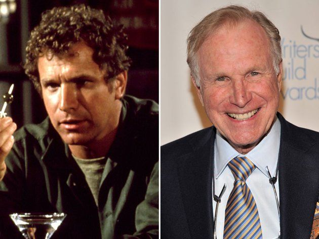 """Wayne Rogers (Captain John """"Trapper John"""" McIntyre) was Hawkeye's fun-loving sidekick on the first three seasons of """"M*A*S*H."""" After reportedly tiring of playing second fiddle, Wayne Rogers left the show & moved on to other TV series, such as """"City of Angels,"""" """"House Calls,"""" & """"Murder, She Wrote."""" He later excelled in various business ventures, including a restaurant, a production company, a string of convenience stores, and even a financial institution called Plaza Bank of Commerce."""