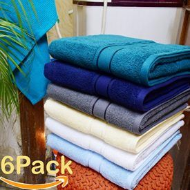 4Pack Bath Towel with 580 GSM Quality in Teal Color ,size 30×54 inch LONG-STAPLE COMBED COTTON. Superior's 100% Premium Long-Staple Cotton is specially combed to remove all but the finest and longest fibers, making these towels the ultimate in luxury. Thirstier than Turkish cotton and softer and more durable than standard cotton, our longer fibers […]