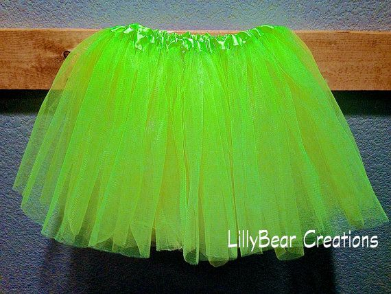 Neon Yellow Ballet Tutu by LillyBearCreations on Etsy, $7.50
