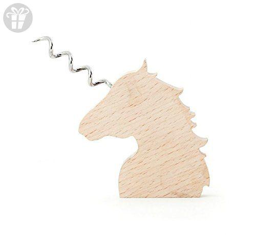Kikkerland Corkscrew, Wooden Unicorn (*Amazon Partner-Link)