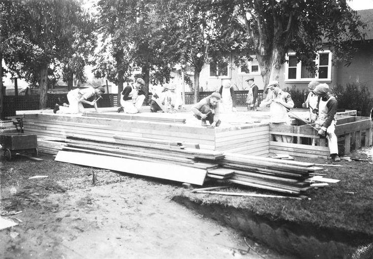 Roosevelt High School, carpentry class