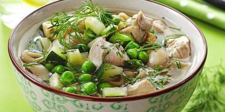 Du kan gå ned inntil to kilo i uken med denne kuren SUPPE 4: Kyllingsuppe med grønnsaker. FOTO: Svein Brimi