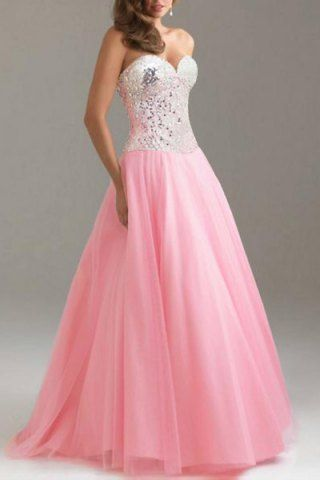 formal pink gown