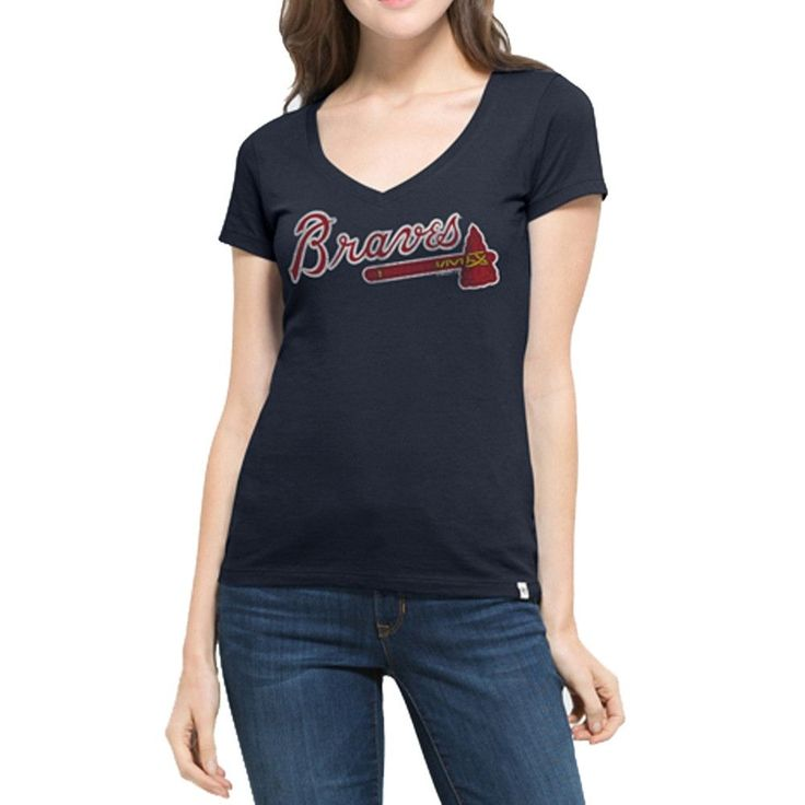 Atlanta Braves - Flanker Logo MVP Juniors V-Neck T-Shirt