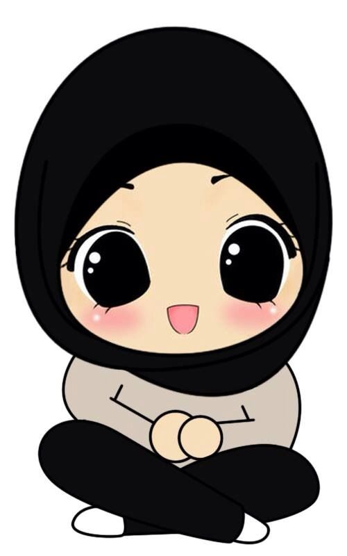 Cute Muslimah Drawing - Chibi Drawings (Cute Muslim Characters) | IslamicArtDB.com