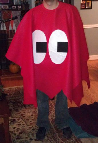 "Pacman ghost costume tutorial, part of a ""Good vs Evil"" couples costume set. (guest crafter: @Aliucus K)"