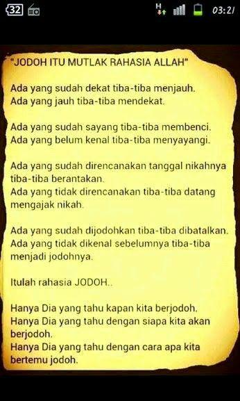 Jodoh Rahsia Allah. and i always believe in JODOH....