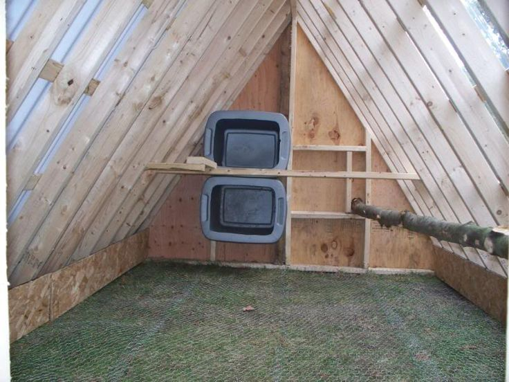 Excellent! The floor is predator safe. I sewed all my floor seams with bailing wire.  Love the tree branch roost. My chickens loooove real branches to perch on. Urbanmama's A-Frame Chicken Coop - BackYard Chickens Community