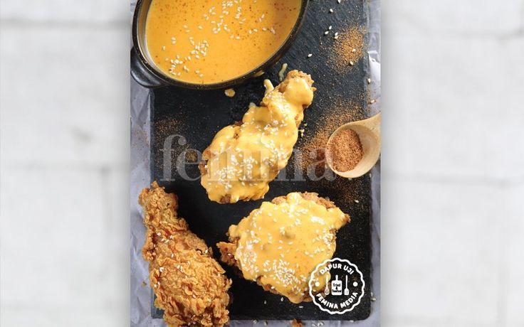 Resep Cheesy Fried Chicken, Jajanan Hits ala Resto Cepat Saji