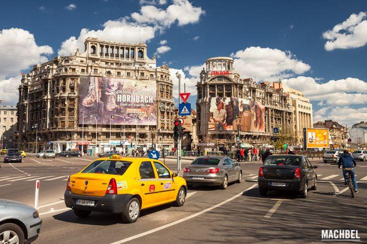 Taxi Dacia por las calles de Bucarest Bucarest Rumania by machbel