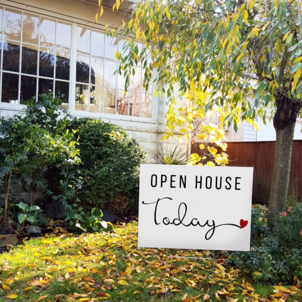 Open House Today - Cursive Heart
