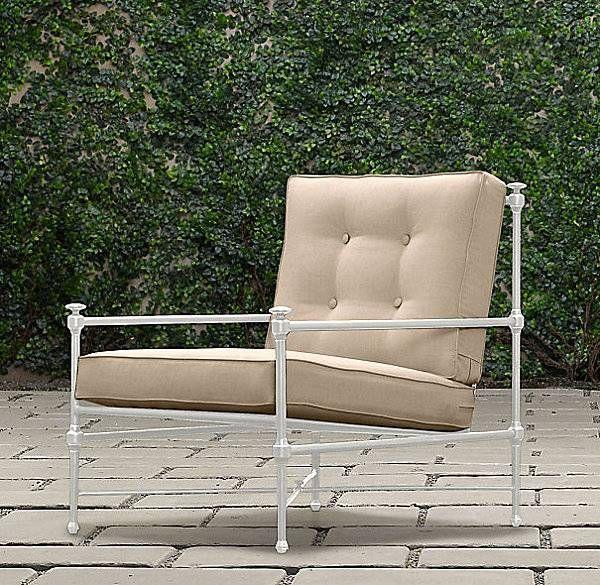 Catalina Lounge Sessel Aluminium Beige Sitzkissen Outdoor Chic