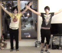 Okay, Phil & Dan dancing. You're welcome.