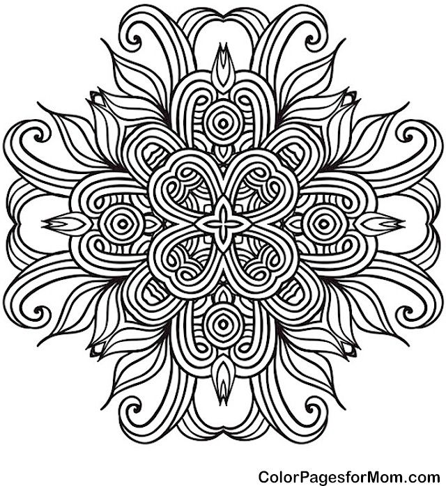 coloring pages colouring adult detailed advanced printable kleuren voor volwassenen mandala coloring page 41 - Advanced Mandala Coloring Pages