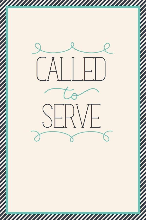 Called To Serve Print by kensiekate on Etsy