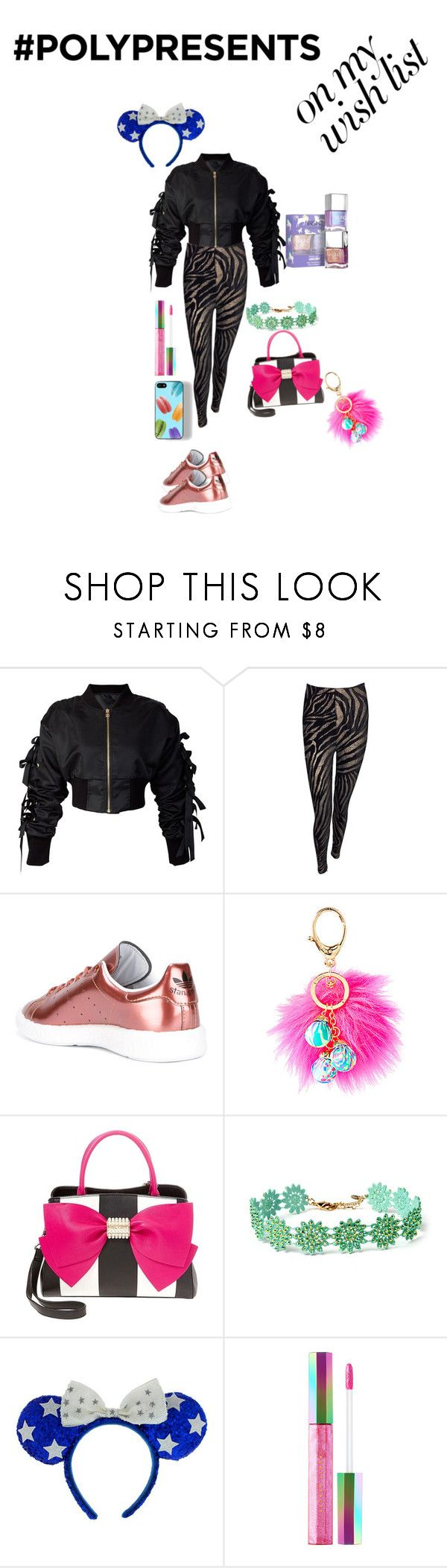 """""""#PolyPresents: Wish List"""" by tristadavis10 on Polyvore featuring storets, Versace, adidas, Lilly Pulitzer, Betsey Johnson, Zero Gravity, Amrita Singh, Puma, Sephora Collection and contestentry"""