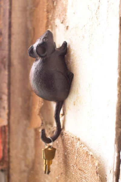 Cast Iron Mouse Wall Hook Hooks