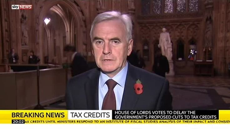 "Shadow Chancellor John McDonnell MP: ""George Osborne's got to think again"" over proposed tax credit cuts"