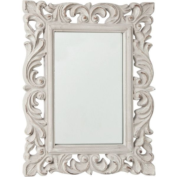 Zara Home Openwork Mirror ($46) ❤ liked on Polyvore featuring home, home decor, mirrors, frames, decor, picture frame, borders, grey, zara home and grey home decor
