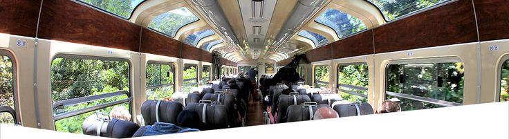 PERURAIL : Vistadome Train : Cusco Tours : Machu Picchu Train    Sacred VAlley to Machu Picchu in about 1.5 hours.