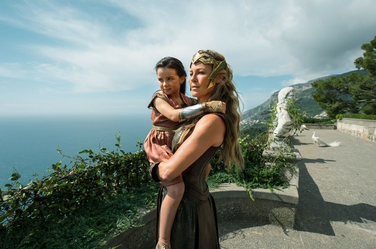 "Amazon Queen Hippolyta and young princess Diana , from ""Wonder Woman"" 2017"