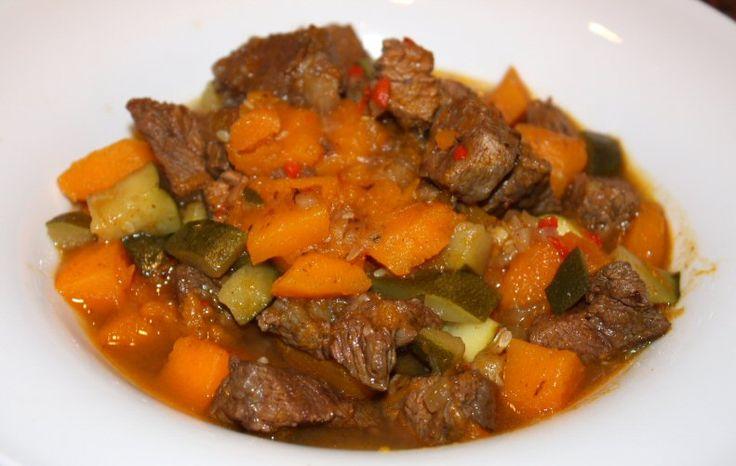 Marokkaans rundvlees met pompoen