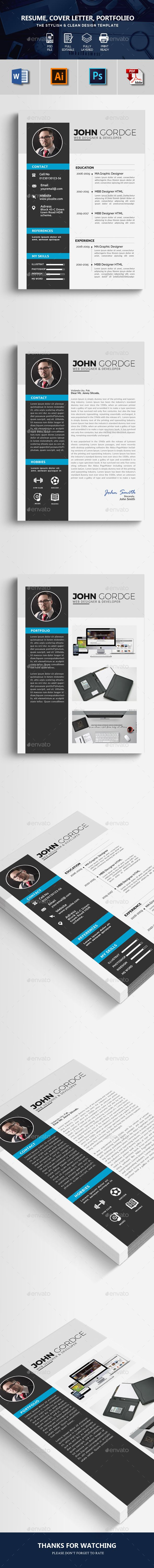 Corporate Resume Design Template #resume clean #resume word  • Download here → https://graphicriver.net/item/corporate-resume-design-template/21194912?ref=pxcr