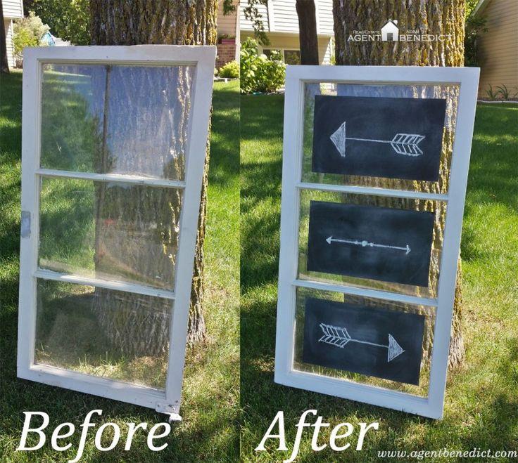 DIY Window Chalkboard