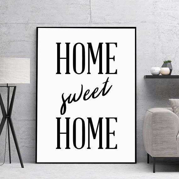Home Sweet Home Print Home Decor Home Sweet Home Sign New
