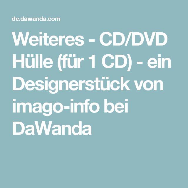 Weiteres - CD/DVD Hülle (für 1 CD) - ein Designerstück von imago-info bei DaWanda