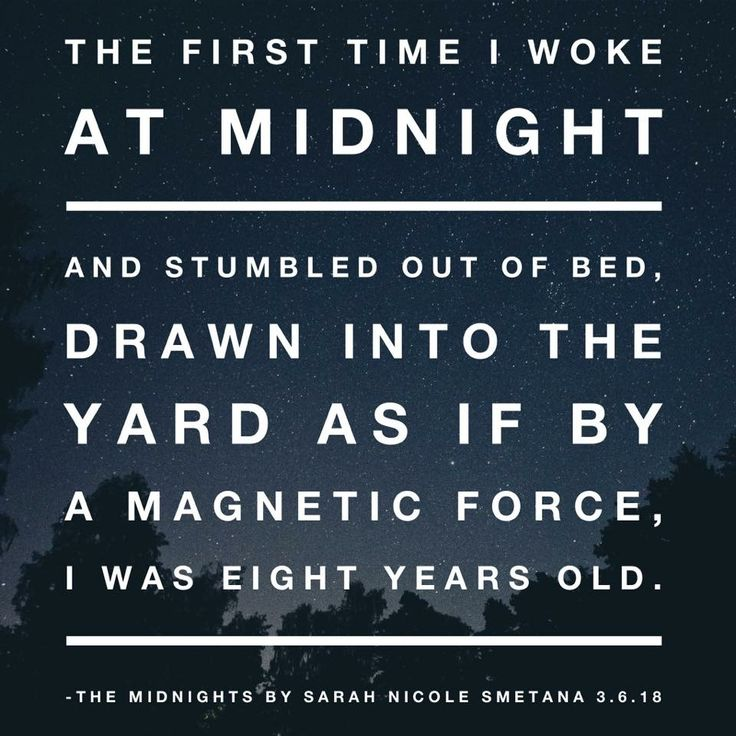 The first line of The Midnights by Sarah Nicole Smetana