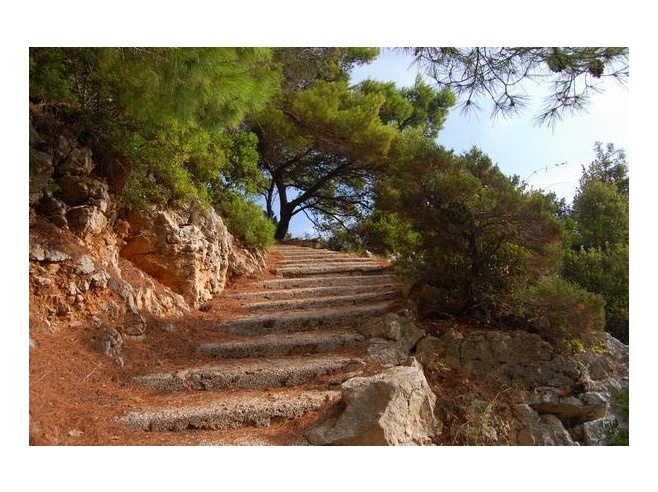 Stone steps on Mljet Island, Croatia