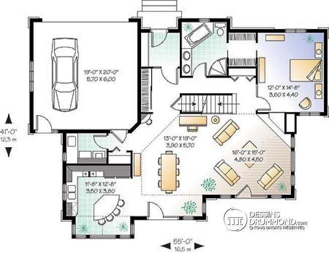 Exceptionnel Les 25 meilleures idées de la catégorie Plans de garage 2 voitures  PP86