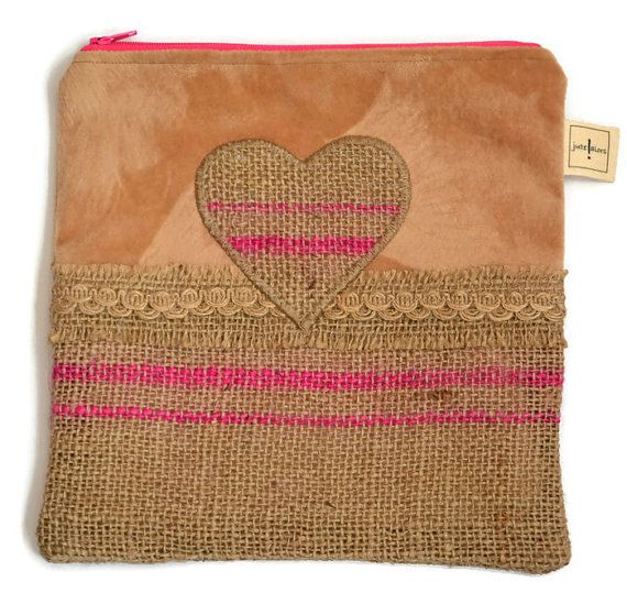 Hey, I found this really awesome Etsy listing at https://www.etsy.com/uk/listing/400563897/hessian-heart-case-jute-zippered-pink