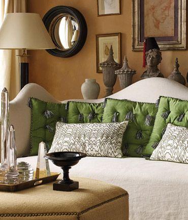 Nicky Haslam // tassel pillows